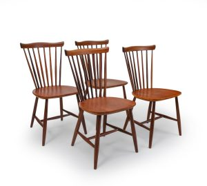 Vintage Set of 4, Pastoe Peg Chairs in Teak, For sale