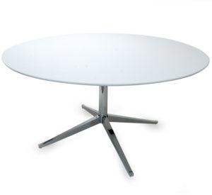 Vintage Florence Knoll Table Desk White Chrome Base. Switzerland Shipping.