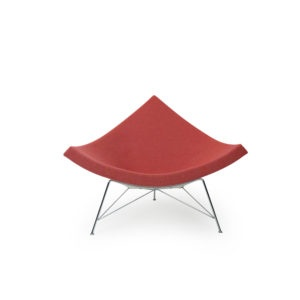 Poppy Red Ivory George Nelson Coconut Chair