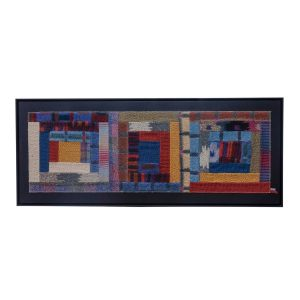 Wall Rug Tapestry multicoloured by Missoni, 1980s vintage mobilier.