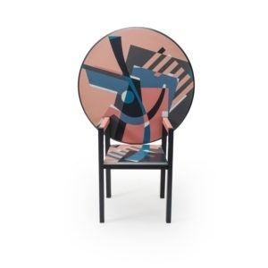 Memphis Post modern Mendini Chair Table, Edition Divisione Nuova Alchimea
