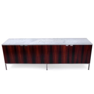 Vintage Rosewood Credenza Florence Knoll Marble Top