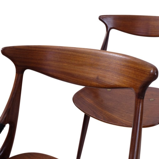 Hovmand Olsen For Mogens Kold Side chairs in teak Danish vintage 1960s