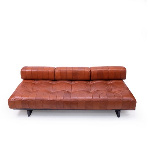 De Sede DS-80 in brown patchwork leather daybed sofa