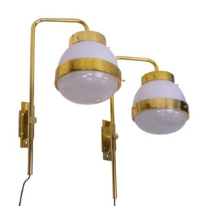 Brass Italian Vintage Wall Lamps by Sergio Mazza for Artemide