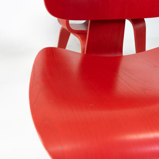 Vitra Eames DCW in Red for sale Dining Chair Wood