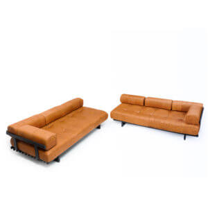 DS-80 De sede Cognac Leather Sofa Set, vintage